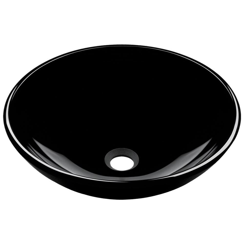 Glass Vessel Sink in Black