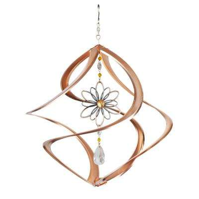 Cosmix 14 in. Metal Copper Flower Spinner