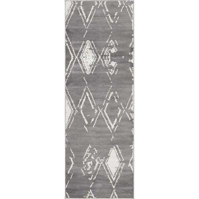 Uptown Collection by Jill Zarin™ Carnegie Hill Gray 2' 2 x 6' 0 Runner Rug
