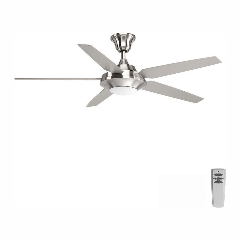 Progress Lighting Signature Plus Ii Collection 54 In Led Indoor Brushed Nickel Modern Ceiling Fan With Light Kit And Remote