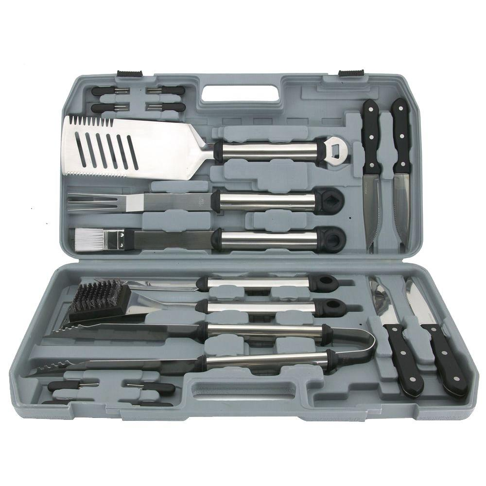 Mr. Bar-B-Q 18-Piece Grilling Tool Set with Case