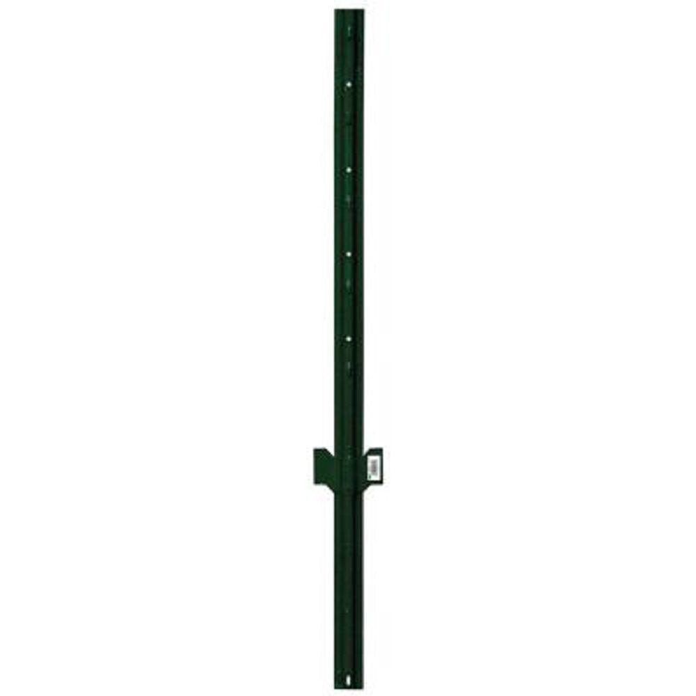 Everbilt 3 in. x 3 in. x 6 ft. Green Metal Heavy Duty Fence U-Post