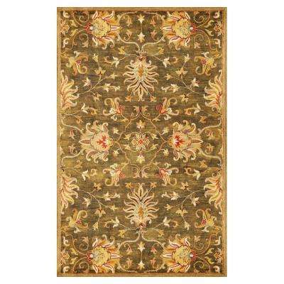 Touch of Agra Green 8 ft. x 11 ft. Area Rug