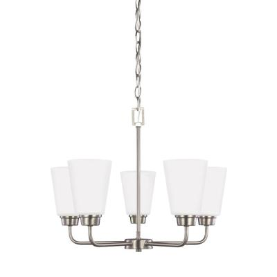 Kerrville 5-Light Brushed Nickel Chandelier with LED Bulbs
