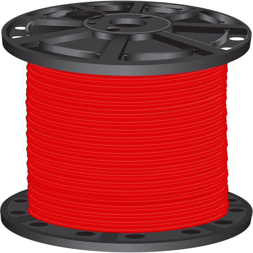 2,500 ft. 4 Red Stranded CU SIMpull THHN Wire