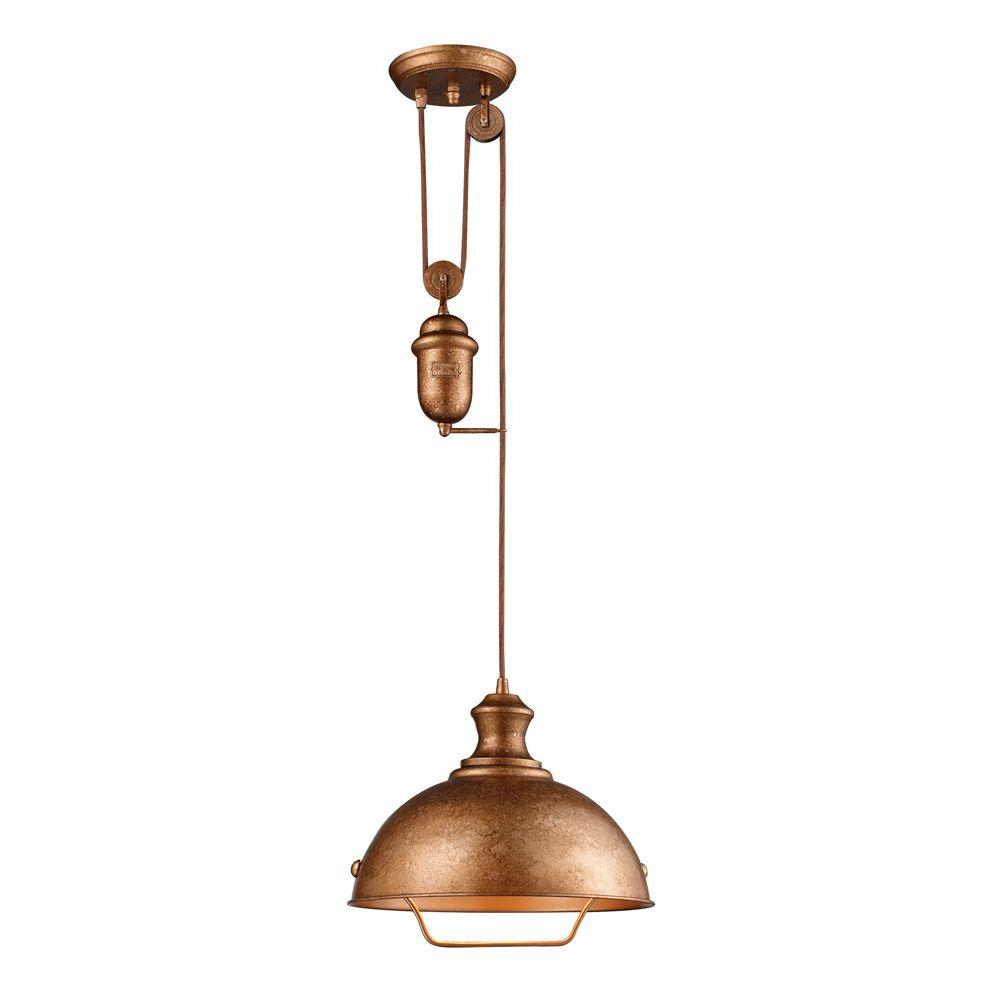Titan lighting farmhouse 1 light bellwether copper ceiling mount titan lighting farmhouse 1 light bellwether copper ceiling mount pendant mozeypictures Choice Image