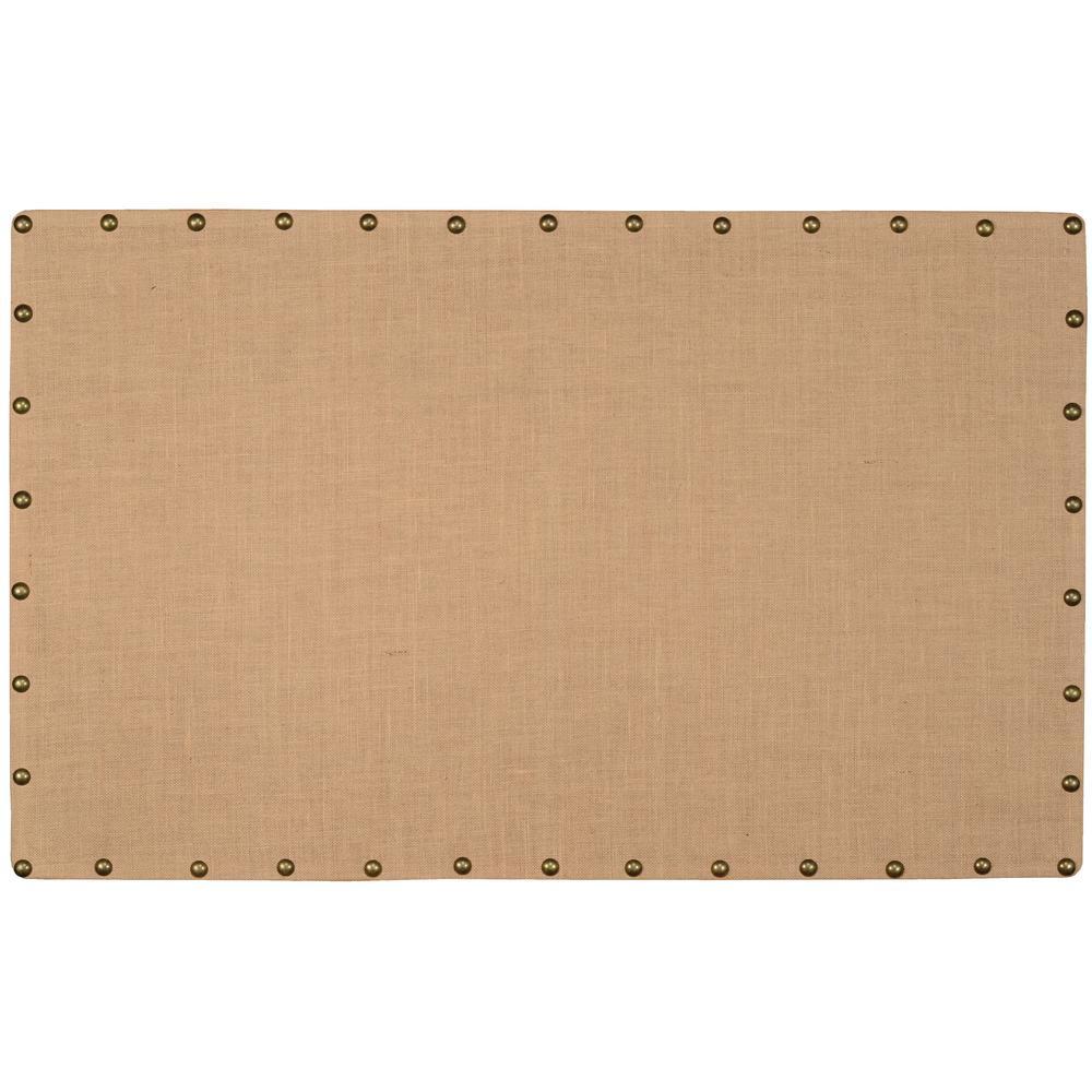 Brown Burlap Nail Head Cork Memo Large Board