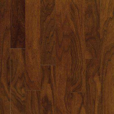 Take Home Sample - Town Hall Exotics Walnut Autumn Brown Engineered Hardwood Flooring - 5 in. x 7 in.