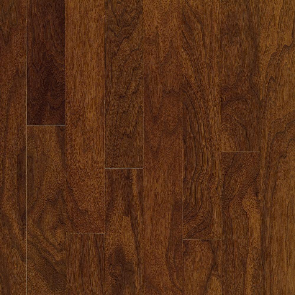 Take Home Sample - Town Hall Exotics Walnut Autumn Brown Engineered Hardwood Flooring - 5 in. x 7 in.
