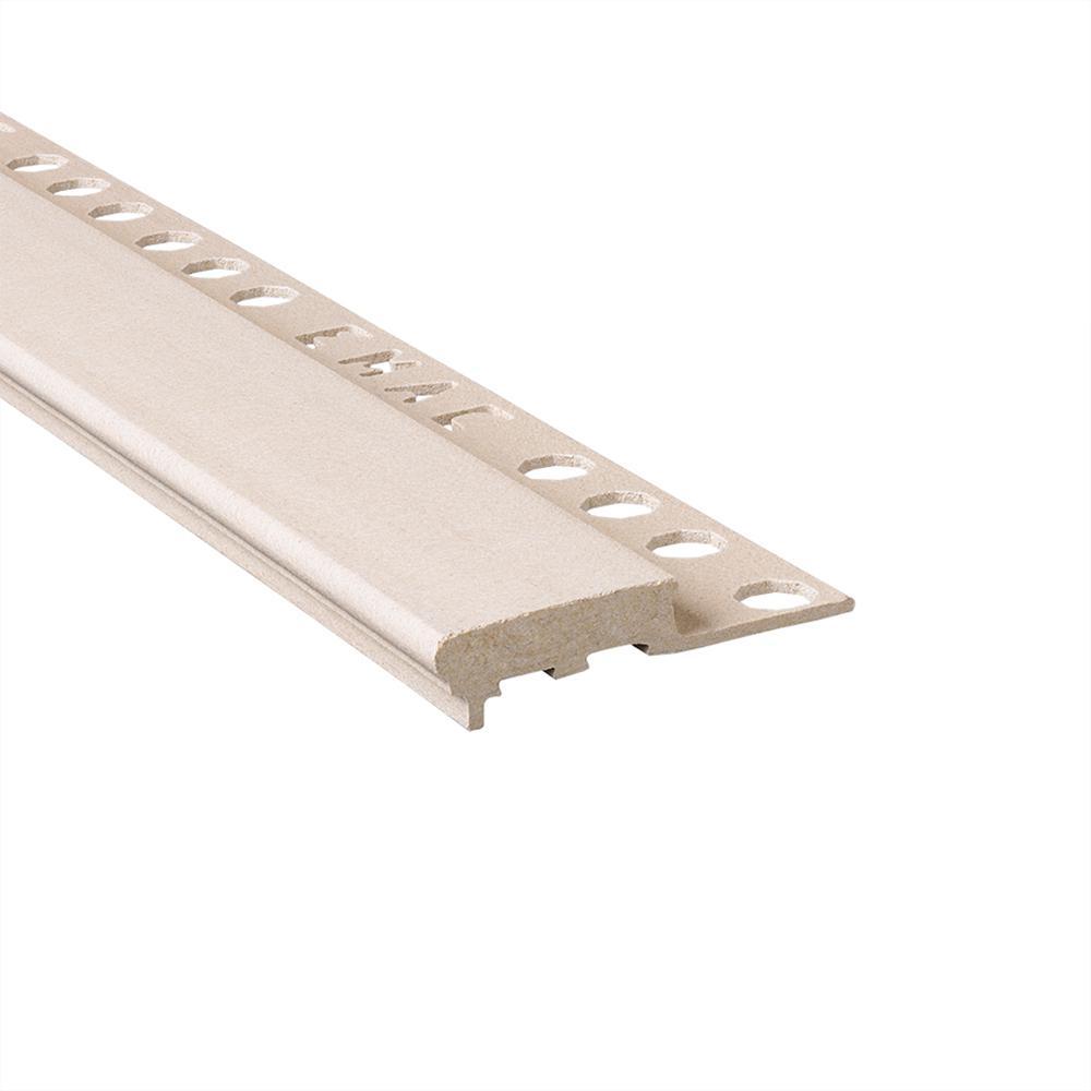 Novopeldano Maxi Grey 1/2 in. x 98-1/2 in. Composite Tile Edging Trim
