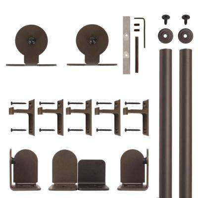Top Mount Oil Rubbed Bronze Rolling Door Hardware Kit for 1-1/2 in. to 2-1/4 in. Door