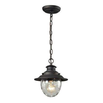 Searsport 1-Light Weathered Charcoal Outdoor Pendant