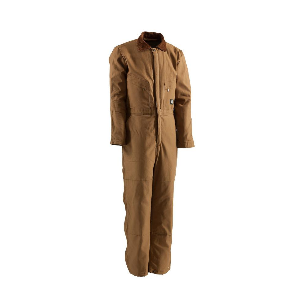Berne Men S Large Tall Brown Duck Polyester And Cotton