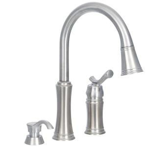 Delta Pull Down Kitchen Faucet delta leland single-handle pull-down sprayer kitchen faucet in