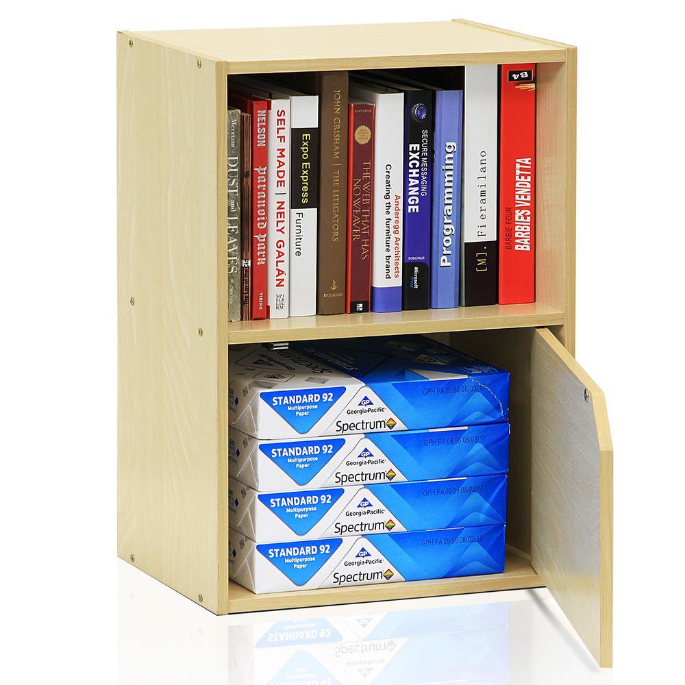 Pasir Steam Beach 2-Shelf Bookcase with 1-door