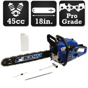 Blue Max 18 inch 45cc Heavy Duty Gas Chainsaw by Blue Max