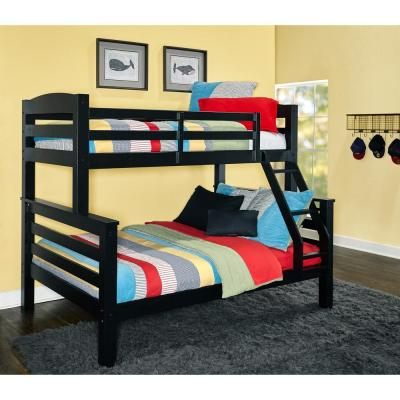 Sanders Twin Full Bunkbed Black