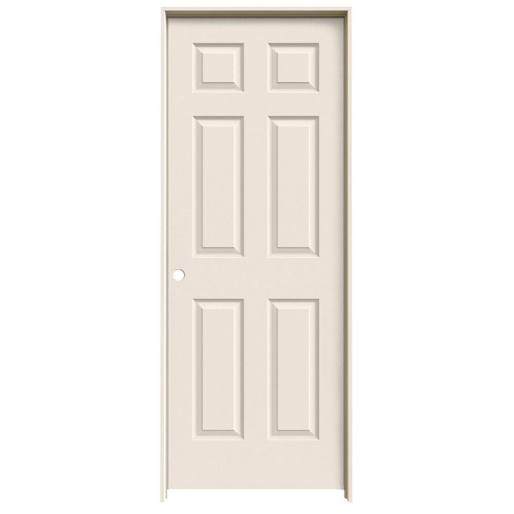 JELD WEN 30 In. X 80 In. Colonist Primed Right Hand Textured