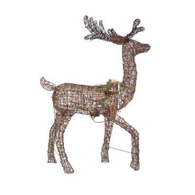 60 in. Christmas Animated Warm White LED Deer