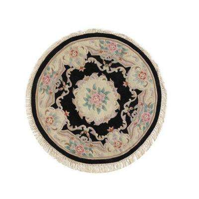 Imperial Black 8 ft. Round Area Rug