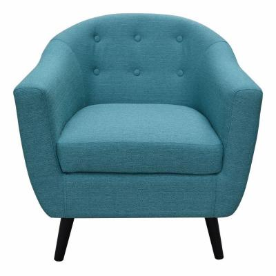 Modern Fabric Accent Chair in Turquoise