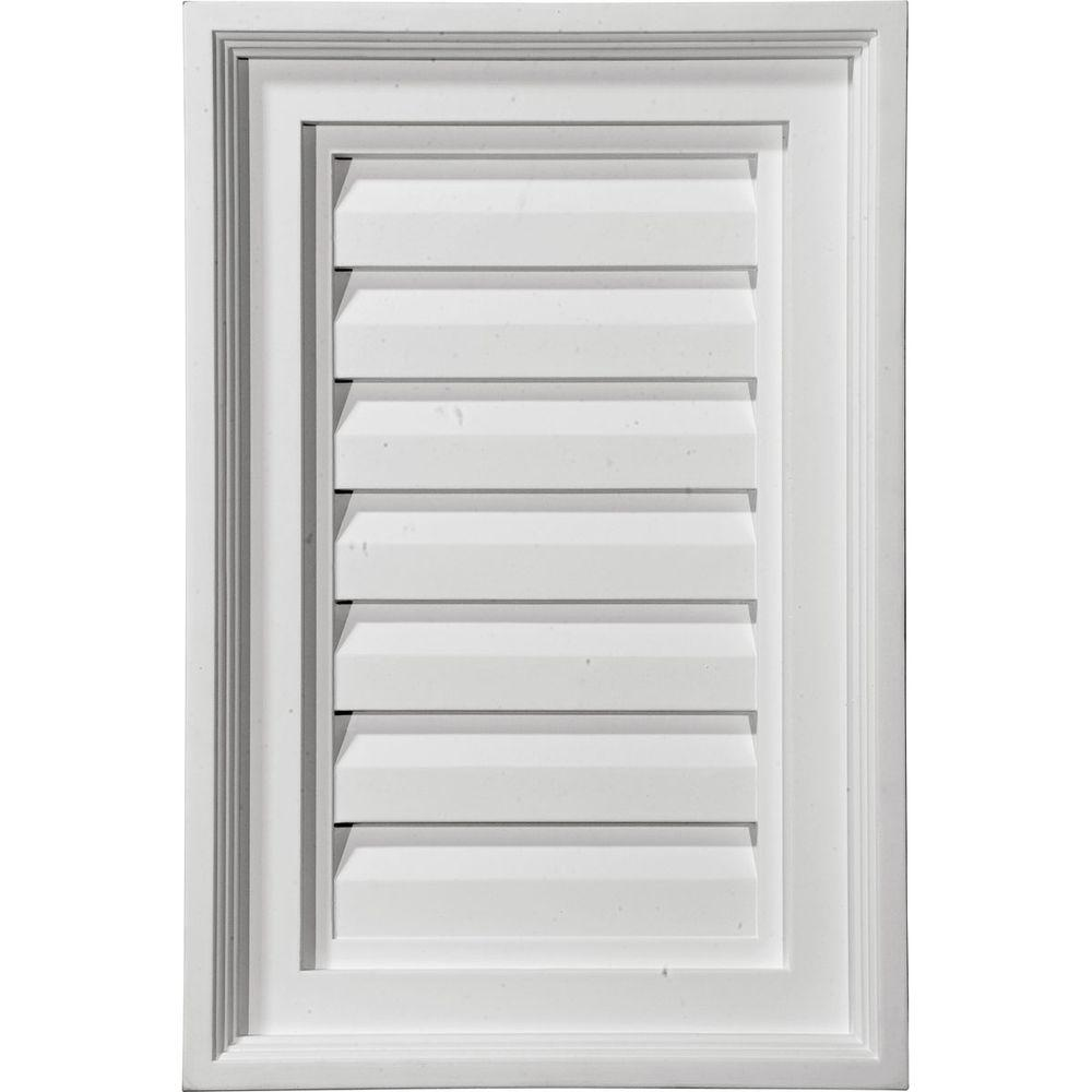 Ekena Millwork 2 in. x 16 in. x 36 in. Decorative Vertical Gable Louver Vent