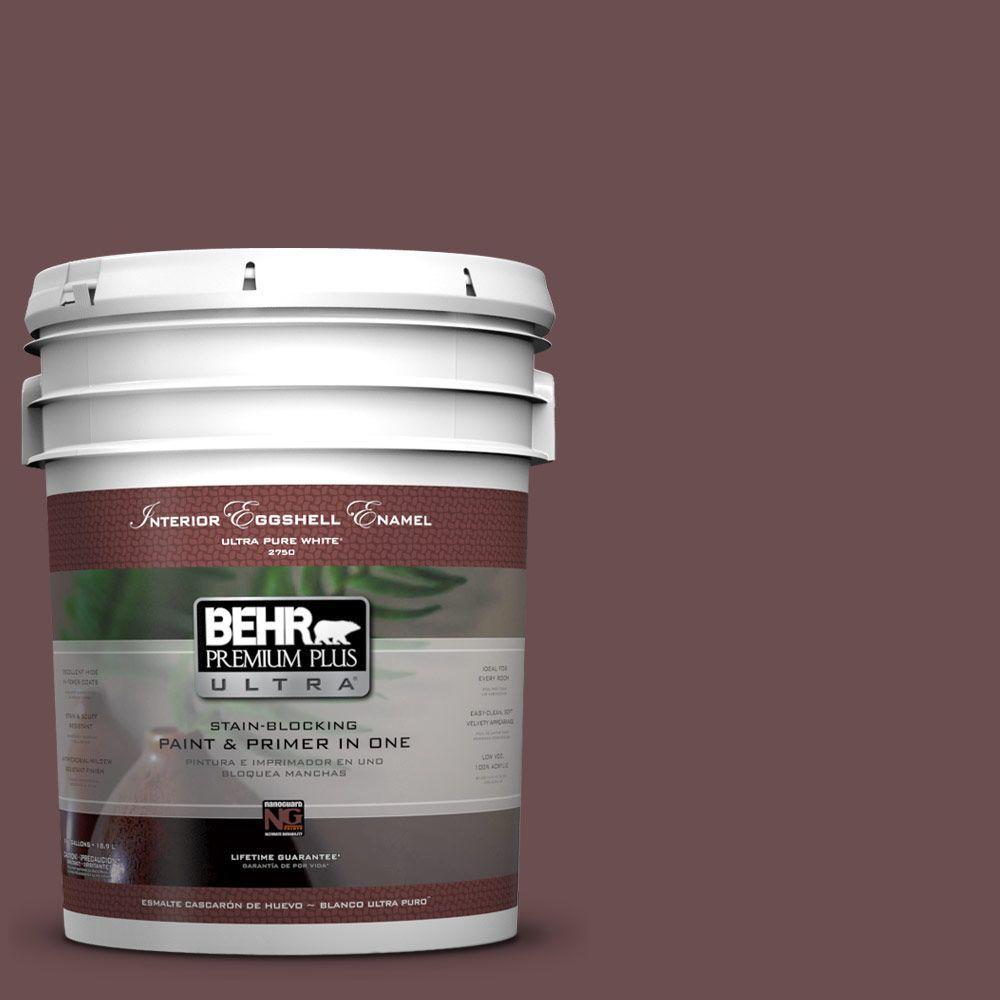 5 gal. #130F-7 Semi Sweet Eggshell Enamel Interior Paint and Primer