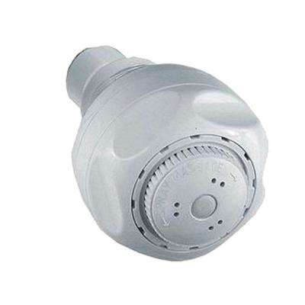 Water Efficient 3-Spray 1.5 GPM 2-21/32 in. Showerhead in White