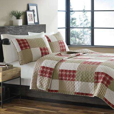 Camano Island Red King Quilt Set (3-Piece)