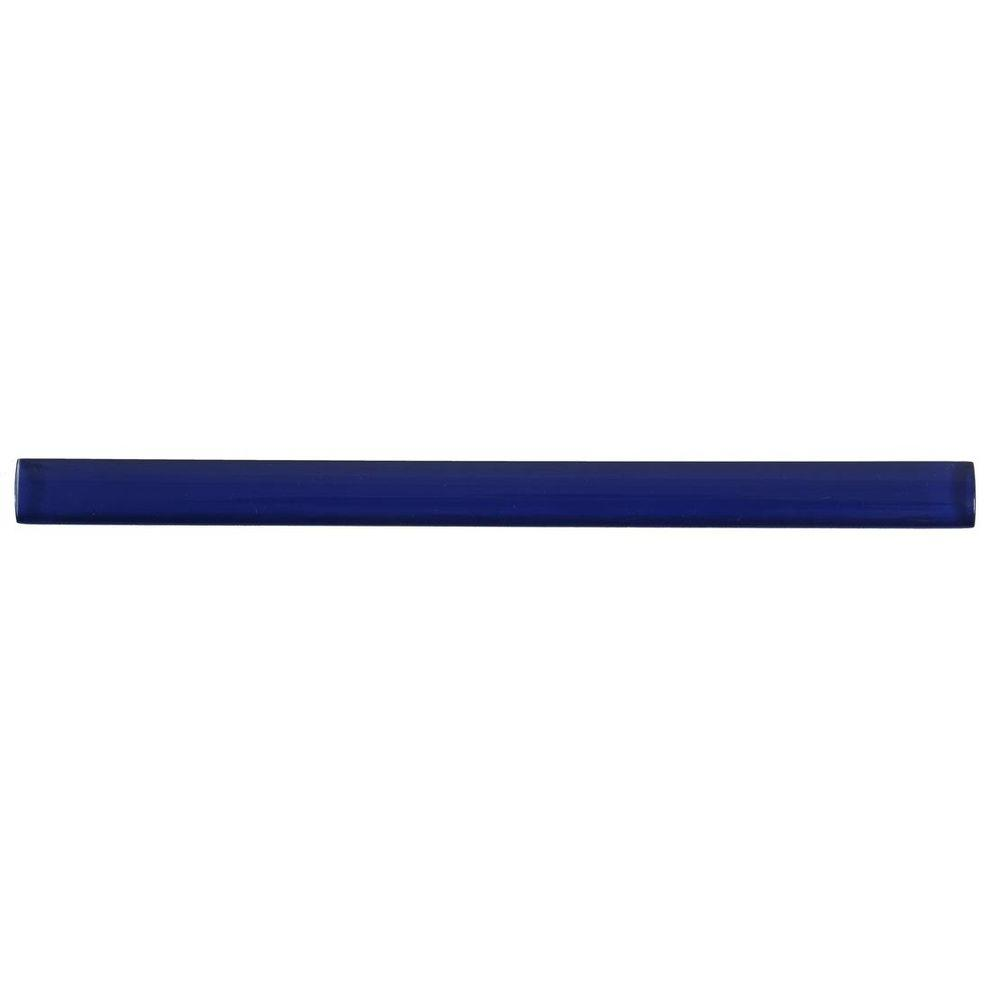Splashback Tile Midnight Blue 3 4 In X 6 Gl Pencil Liner
