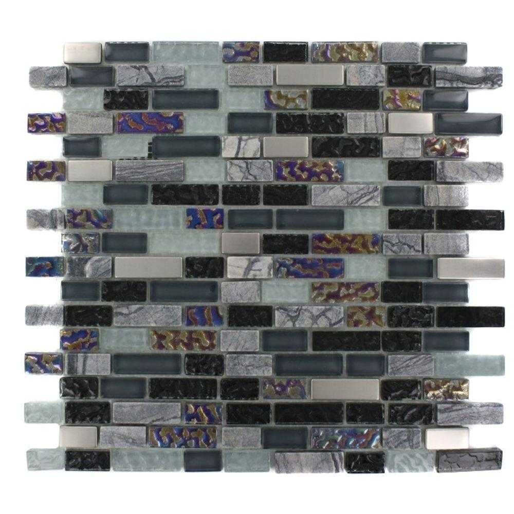 Splashback Tile Seattle Skyline Blend Bricks 12 in. x 12 ...