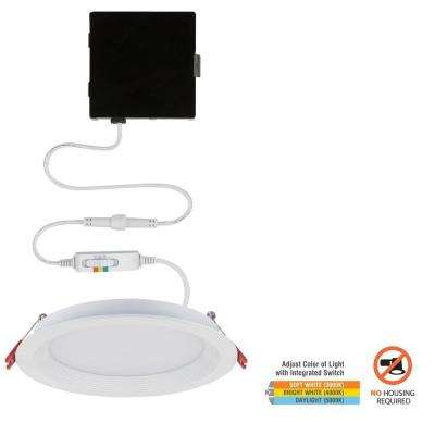 Slim Baffle 6 in. Color Selectable Canless LED Recessed Kit