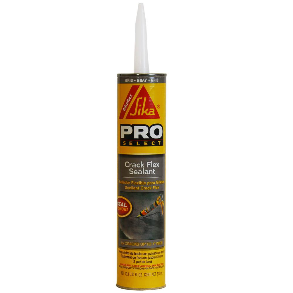 Grey Kitchen And Bath Caulk: Sikaflex 10.1 Oz. Gray Crack Flex Sealant-427706