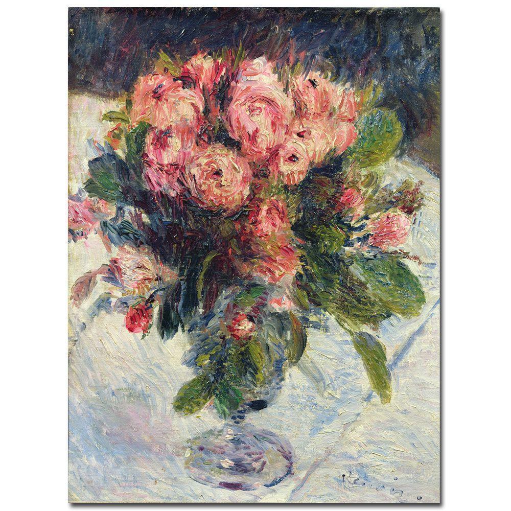 Trademark Fine Art 18 in. x 24 in. Moss-Roses, 1890 Canvas Art