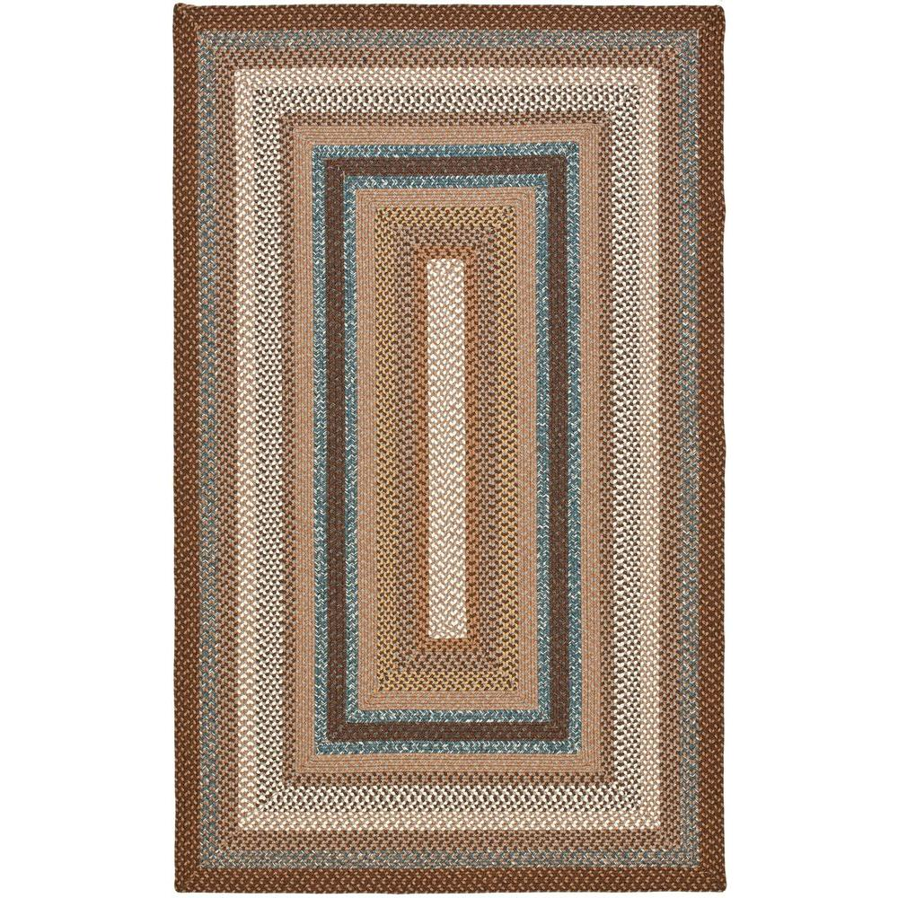 Safavieh Braided Brown Multi 8 Ft X 10 Ft Area Rug