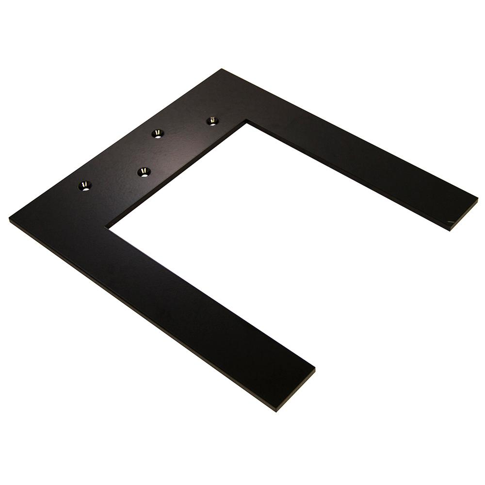 Lincoln Top Plate 10 in. Black Hidden Countertop Brace