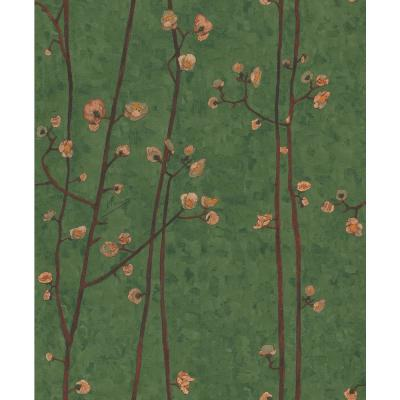 Plum Branch Paper Strippable Wallpaper (Covers 57 sq. ft.)
