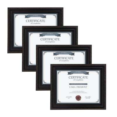 Martinez 8.5 in. x 11 Black Picture Frame (Set of 4)