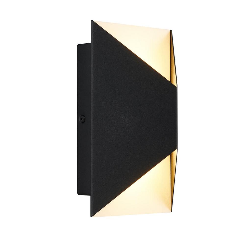 Medium Tria Black Outdoor Integrated LED Wall Mount Lantern