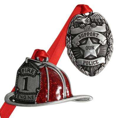 Hometown Heroes Fire and Police Ornament Set