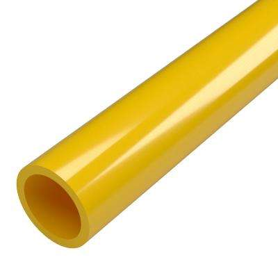 1-1/4 in. x 5 ft. Furniture Grade Sch. 40 PVC Pipe in Yellow
