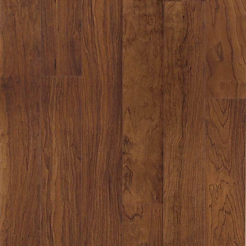 Hampton Bay Tuscan Red Cherry Laminate Flooring 5 In X