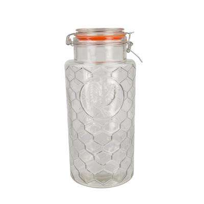 91 oz. Glass Jar with Rooster