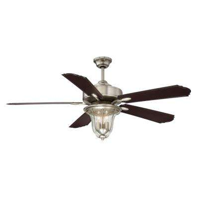 52 in. Satin Nickel Ceiling Fan