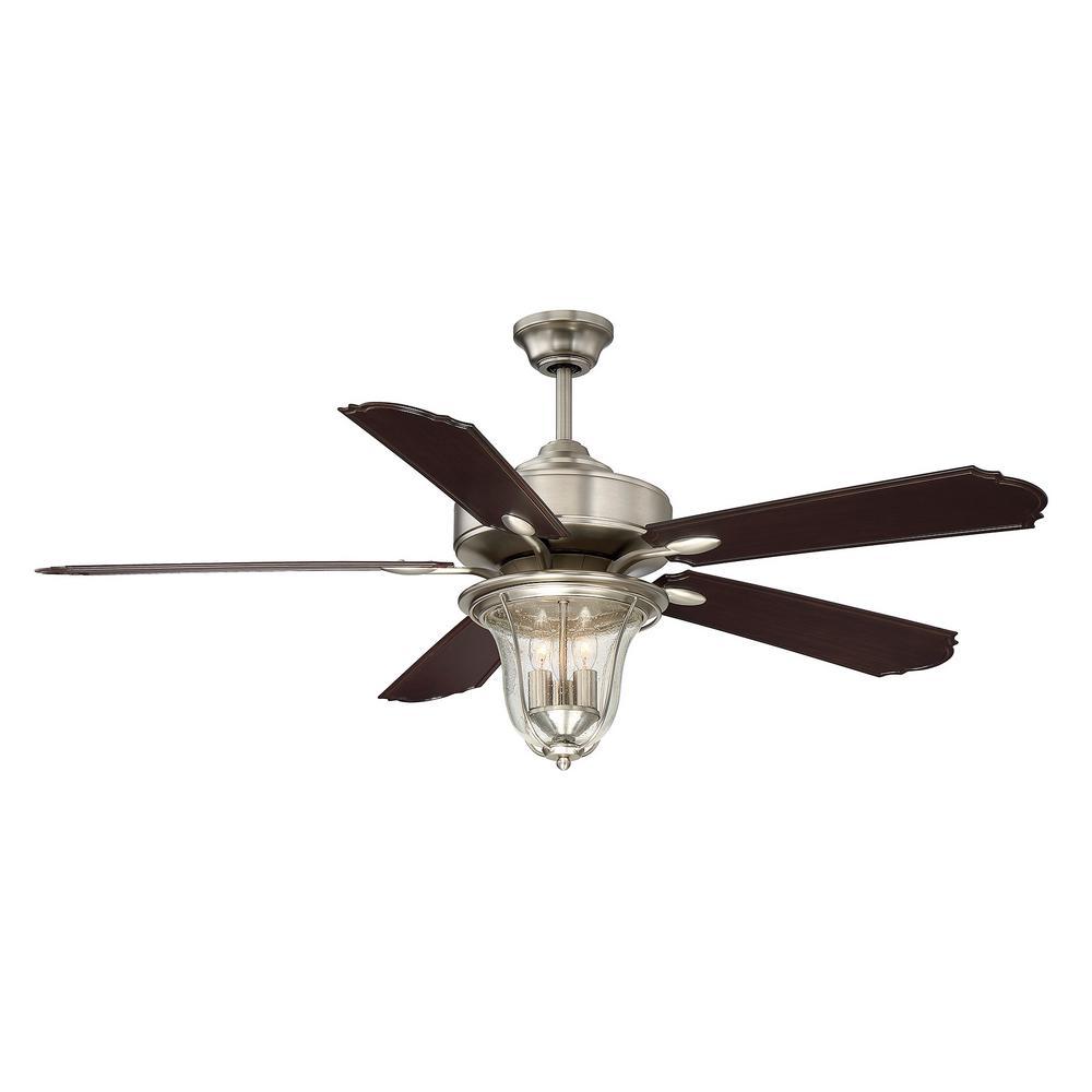 Filament Design 52 in. Satin Nickel Ceiling Fan