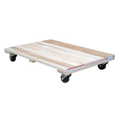 24 in. x 36 in. 900 lb. Solid Deck Hardwood Dolly