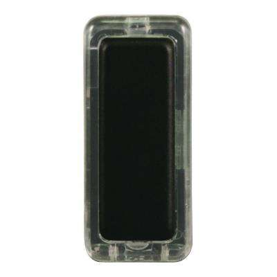 Wired Lighted Push Button Bronze Finish Rectangular