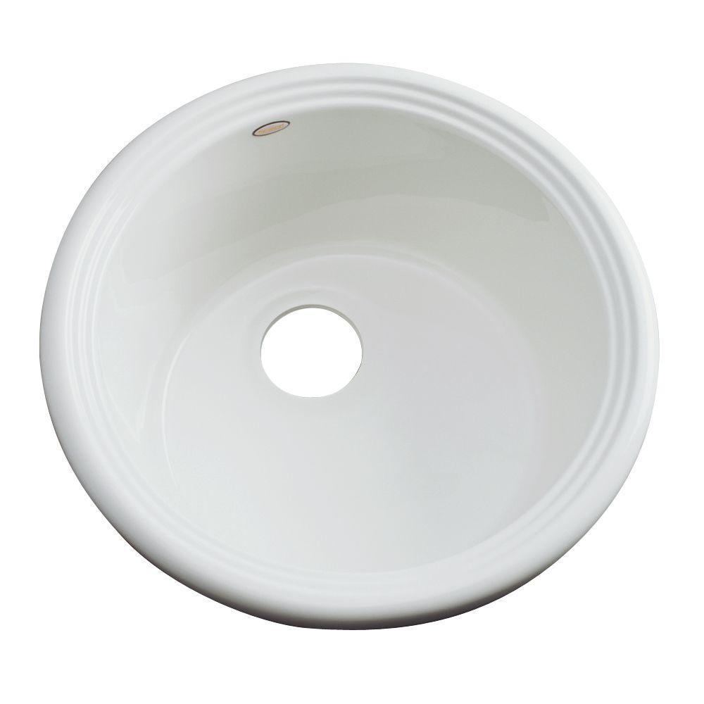 Hampton Drop-In Acrylic 18 in. Single Bowl Entertainment Sink in Ice