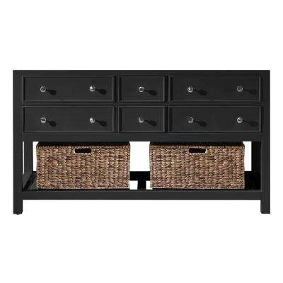 Elodie 59.2 in. W x 21.7 in. D x 33.5 in. H Bath Vanity Cabinet Only in Espresso