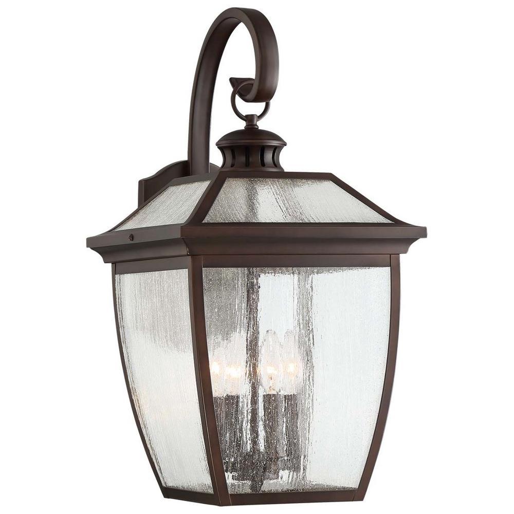 Minka Lavery Sunnybrook 4-Light Alder Bronze Outdoor Wall Lantern Sconce